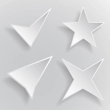 Abstract vector icon white colour on gray background Vector
