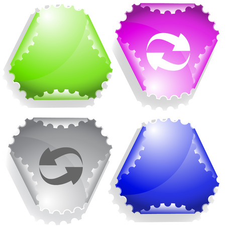 recycle symbol vector: Recycle symbol. Vector sticker.