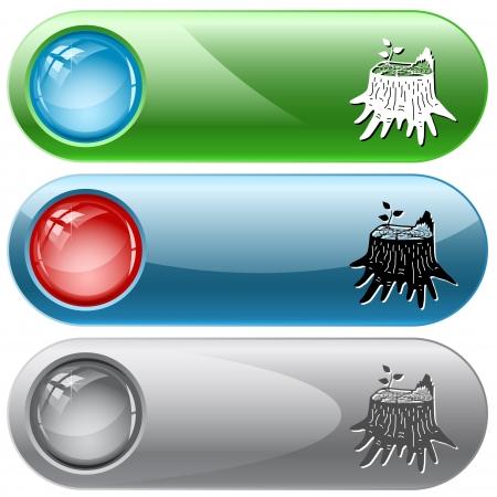 internet buttons: Stub. Vector internet buttons. Illustration
