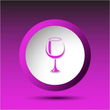 Goblet. Plastic button. Vector illustration. Stock Vector - 25040776