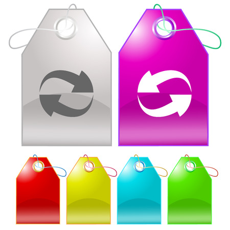 Recycle symbol. Vector tags. Stock Vector - 25197418