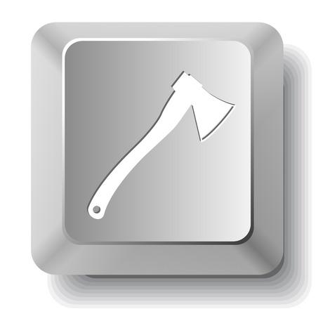 fell: Axe. Vector computer key.