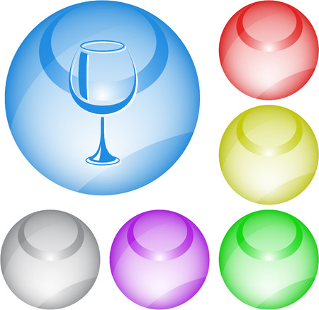web footed: Goblet. interface element.