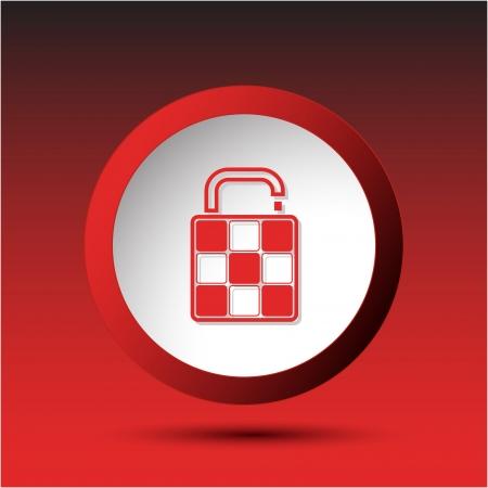 Bag. Plastic button. illustration. Stock Vector - 25249696