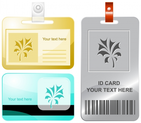 Abstract plant. Vector id cards.