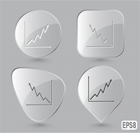 Diagram. Glass buttons. Vector illustration. Vector