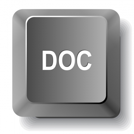 extention: Doc. Vector computer key.