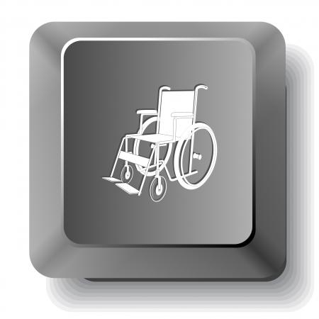 Invalid chair. Vector computer key. Vector