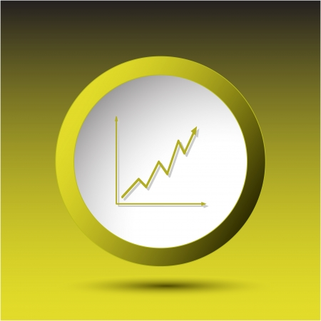 Diagram. Plastic button. Vector illustration. Stock Vector - 25402661