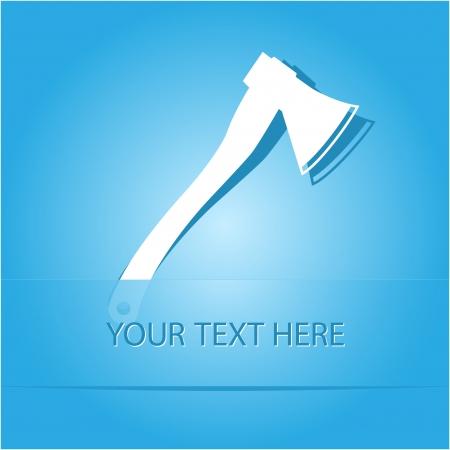 fell: Axe. Paper sticker as bookmark. Vector illustration.  Illustration