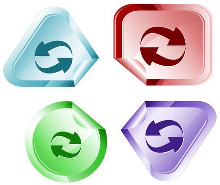 Recycle symbol. Vector sticker.