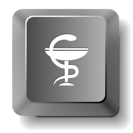 pharma: Pharma symbol. Vector computer key.