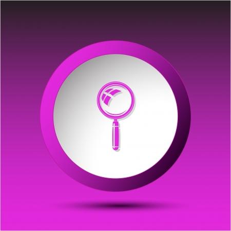 incurved: . Plastic button. Vector illustration. Illustration