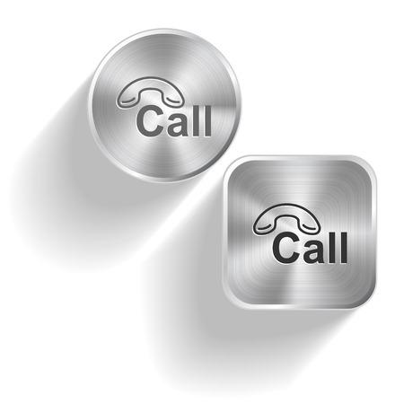 hotline: Hotline. Vektor-Set Stahlkn�pfe