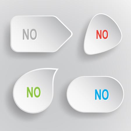 No buttons on gray background. Ilustração