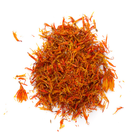 flavorings: Heap saffron isolated on white background