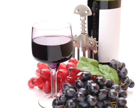 semisweet: A glass of wonderful and delicious red semisweet wine
