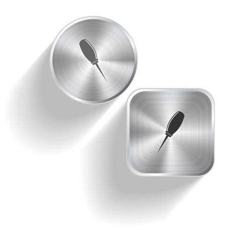 Awl. Vector set steel buttons Vector
