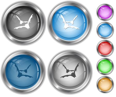 Bats. Internet buttons. Vector