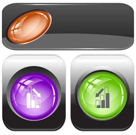 Graph degress. Vector internet buttons. Illustration