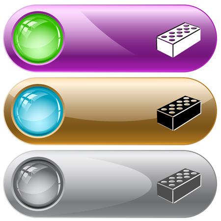 internet buttons: Hollow brick  Vector internet buttons