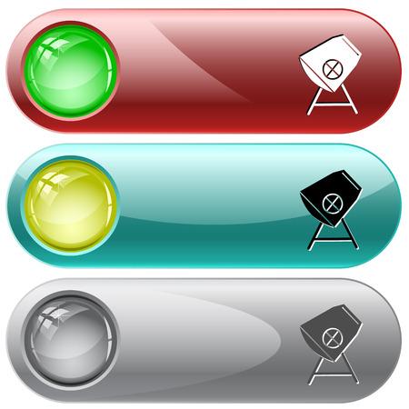 internet buttons: Concrete mixer  Vector internet buttons