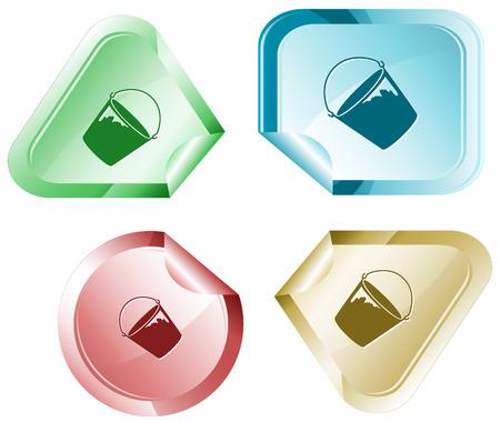 hamous: Bucket  Vector sticker
