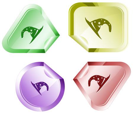 astrologer: Astrologer   Vector sticker  Illustration