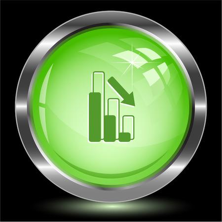 Graph degress. Internet button. Vector illustration. Illustration
