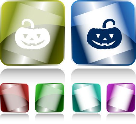 internet buttons: Pumpkin. Internet buttons. Vector illustration.