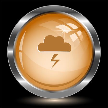 Storm. Internet button. Vector illustration. Illustration