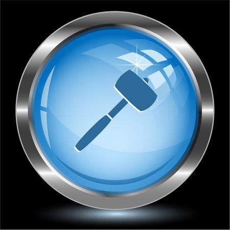 Mallet. Internet button. Vector illustration. Vector