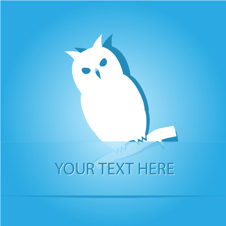 Owl. Paper sticker as bookmark. Vector illustration.  Vector