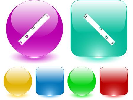 spirit level: Spirit level. Vector interface element. Illustration