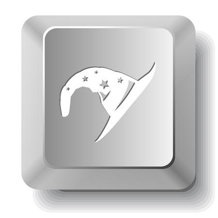 Astrologer's hat. Vector computer key. Vektorové ilustrace