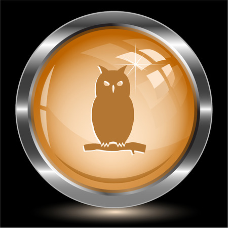 Owl. Internet button. Vector illustration. Vector