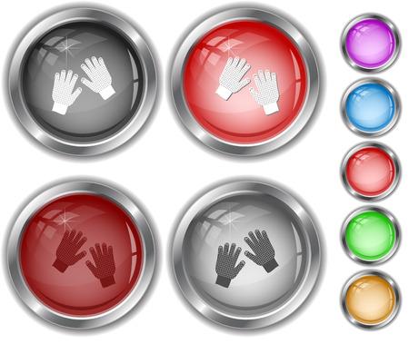 internet buttons: Gauntlets. Internet buttons. Illustration