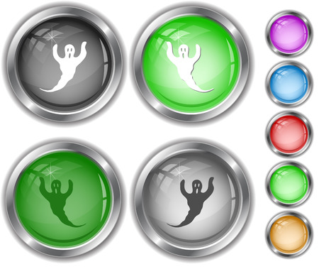 internet buttons: Ghost. Internet buttons. Illustration