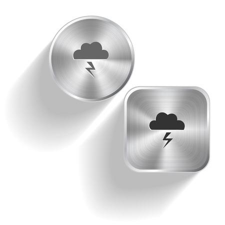 ios: Storm. Vector set acier boutons