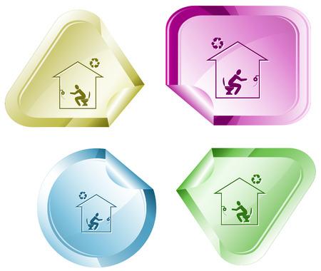 hamose: Home toilet sticker.
