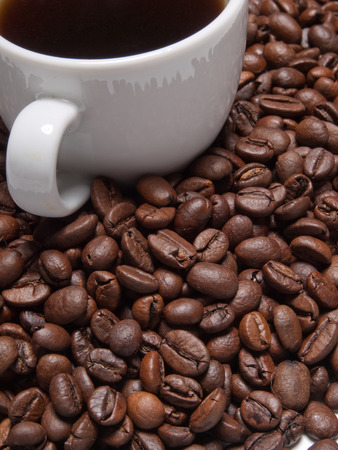 vivacious: A cup of coffe to get energy and become vivacious Stock Photo