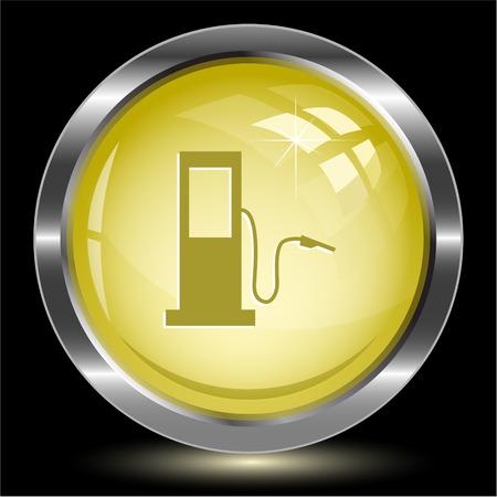 Fueling station. Internet button. Vector illustration. Vector