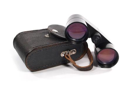 Binoculars isolated on the white background photo