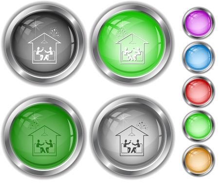 internet buttons: Home celebration. Internet buttons.