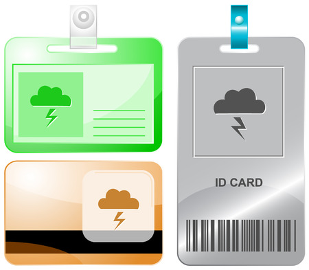 thunderclap: Storm  Vector id cards  Illustration