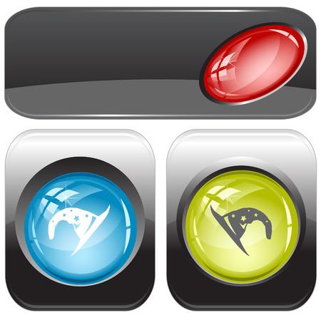 astrologer: Astrologer  Vector internet buttons  Illustration