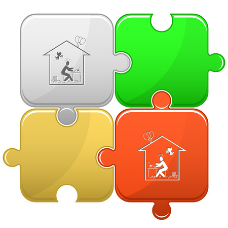 Home inspiration. Vector puzzle. Vector