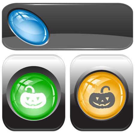 internet buttons: Pumpkin. Vector internet buttons.