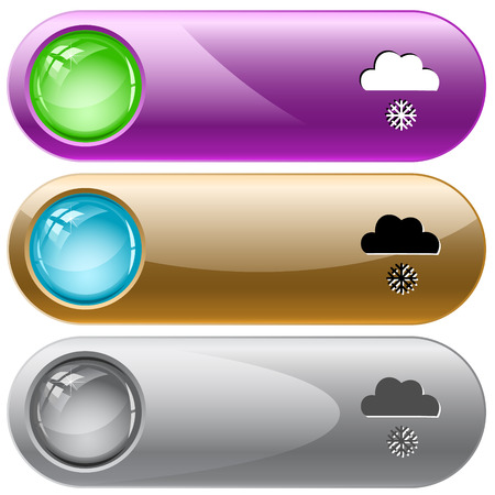 internet buttons: Snowfall. Vector internet buttons.