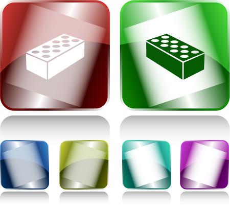 internet buttons: Hollow brick. Internet buttons. Vector illustration. Illustration